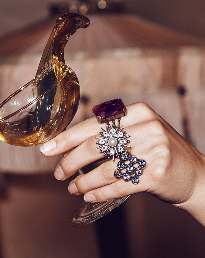 Marc Jacobs Cocktail Statement Ring Set