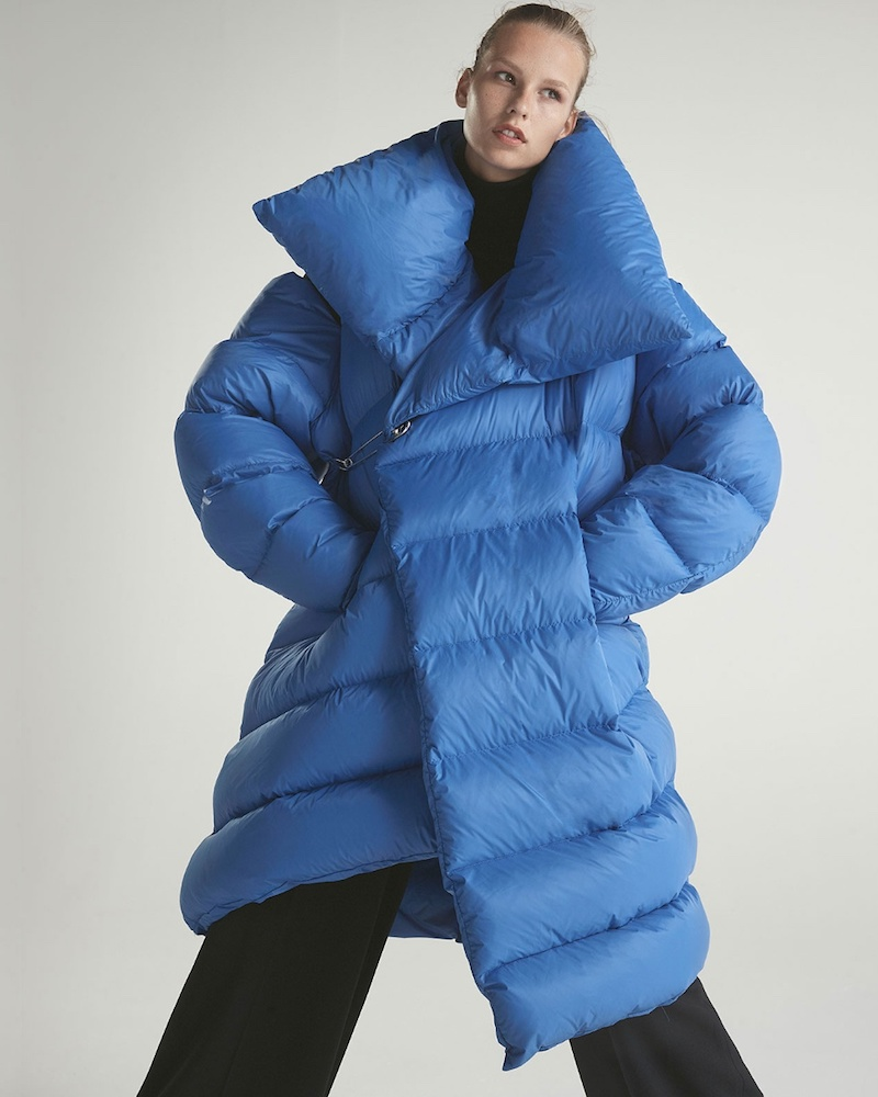 Marques'Almeida Asymmetric Quilted-Down Coat