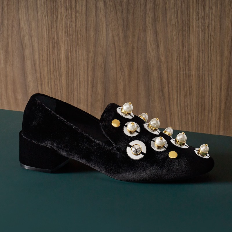 Mercedes Castillo Studded Loafer