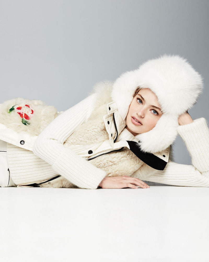 Moncler Diamant Fur Puffer Embroidered Jacket