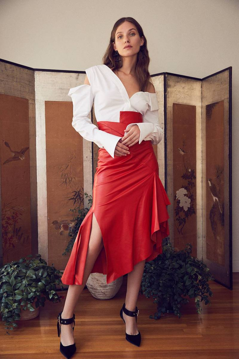 Monse for FWRD Leather Skirt