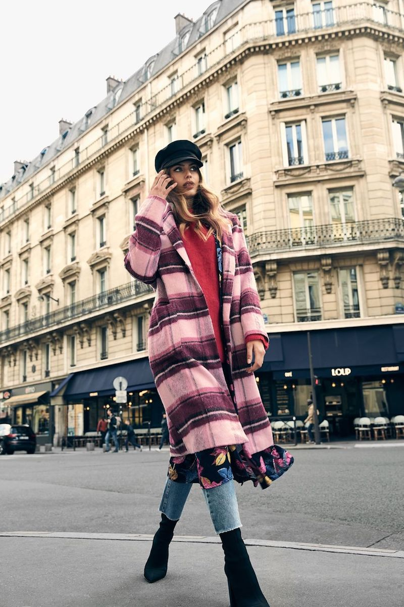 NA-KD Trend Checked Plaid Coat