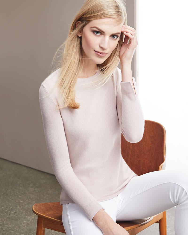 Neiman Marcus Cashmere Collection Modern Superfine Cashmere Crewneck Sweater