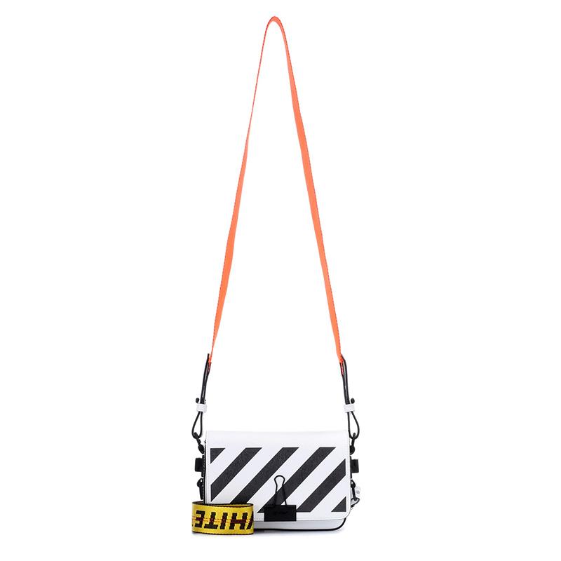 Off-White c/o mytheresa.com Binder Clip Leather Shoulder Bag