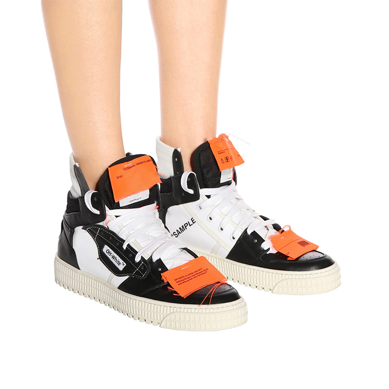 Off-White c/o mytheresa.com Leather Sneakers in Black No C