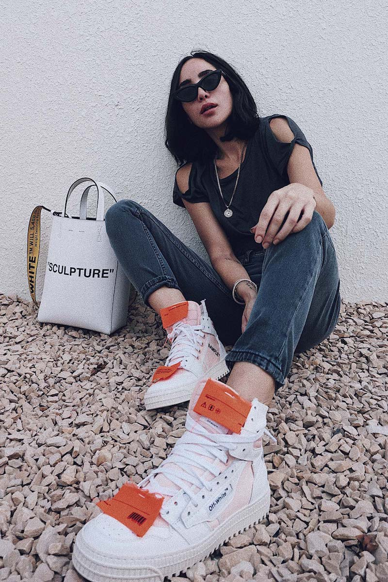 Off-White c/o mytheresa.com Leather Sneakers in White Light