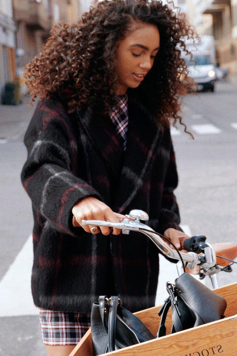 & Other Stories Checkered Alpaca Coat
