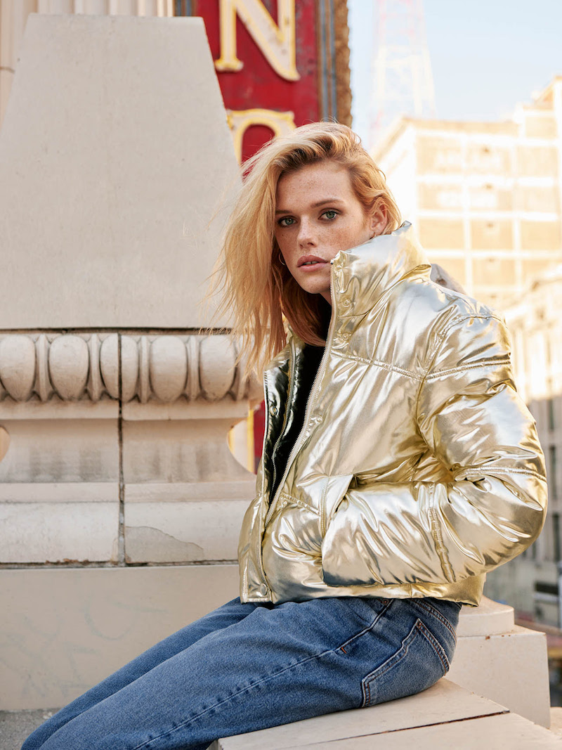 & Other Stories Metallic Puffer Jacket
