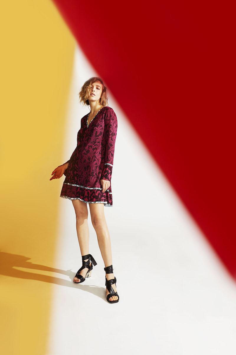Proenza Schouler Abstract-Print Silk A-Line Dress