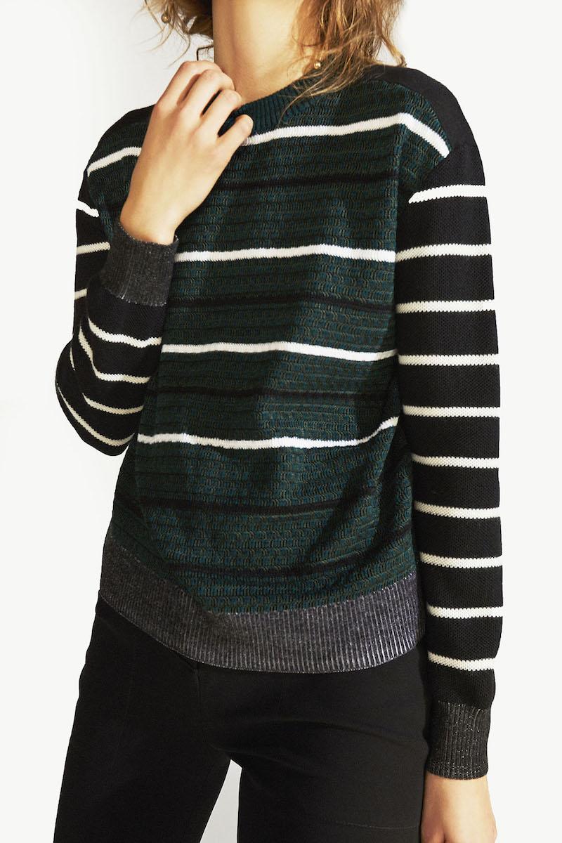Proenza Schouler Striped Cotton Sweater