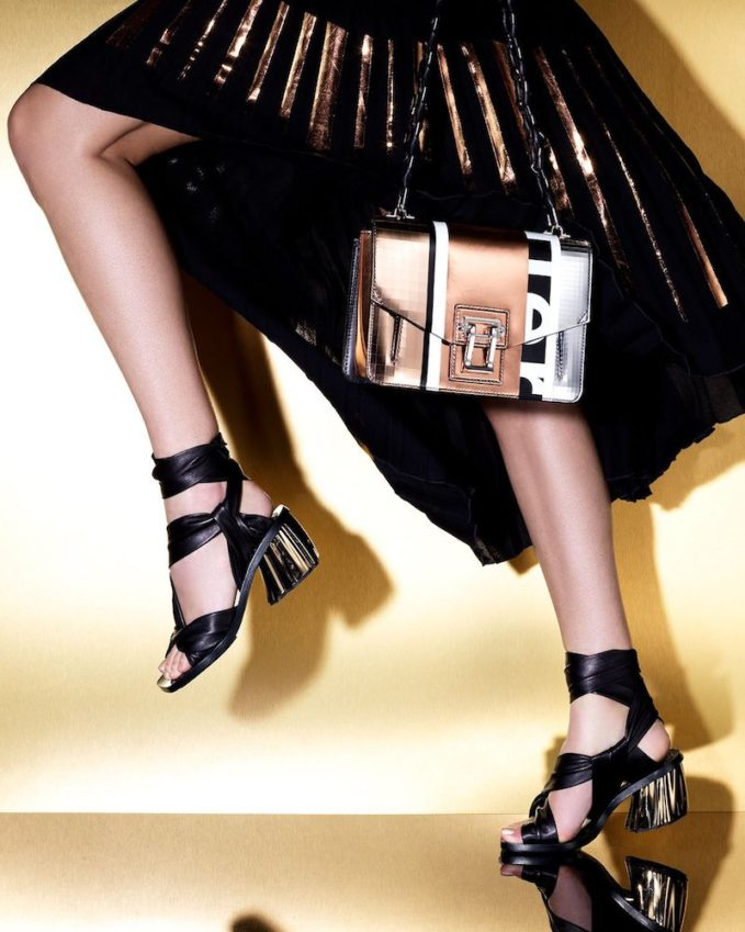 Proenza Schouler XMM Leather Ankle-Wrap Sandal