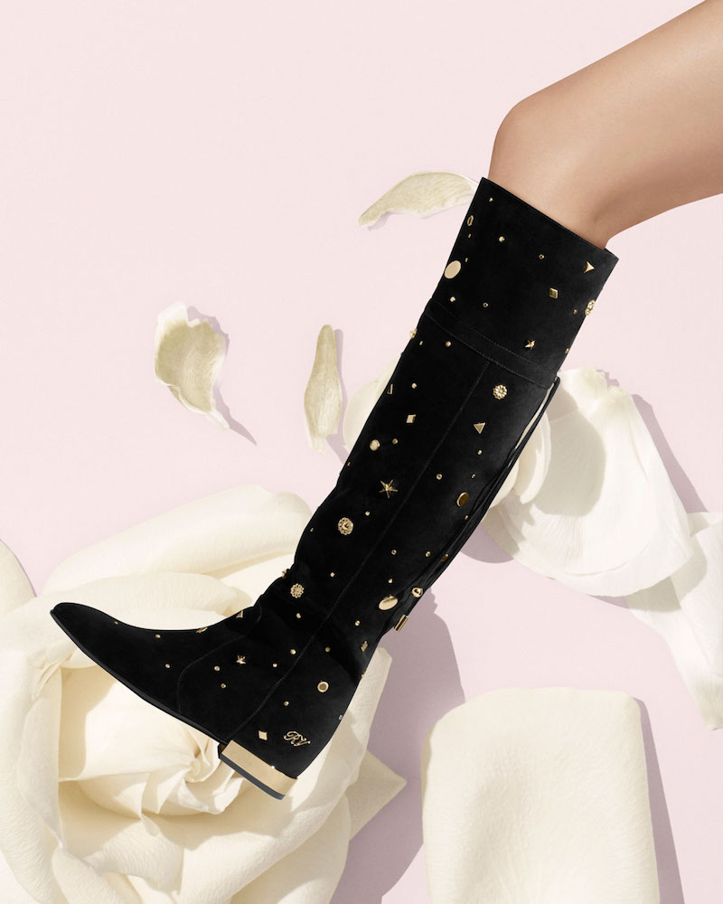 Roger Vivier Astre Studded Over-The-Knee Boot