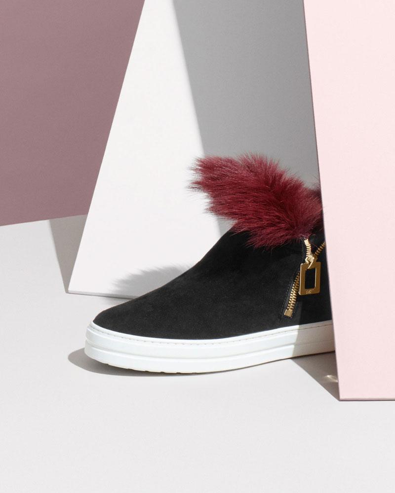 Roger Vivier Sneaky Viv High-Top Sneaker with Fur