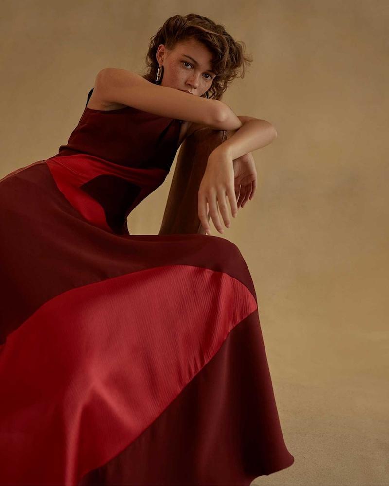 Roksanda Keanu Multi-Panel Sleeveless Crepe Dress