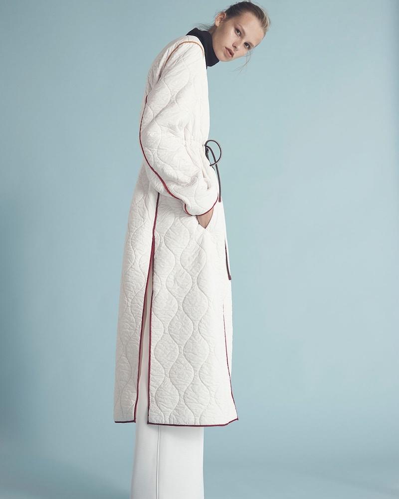Roksanda Toledo Contrast-Trim Quilted Coat