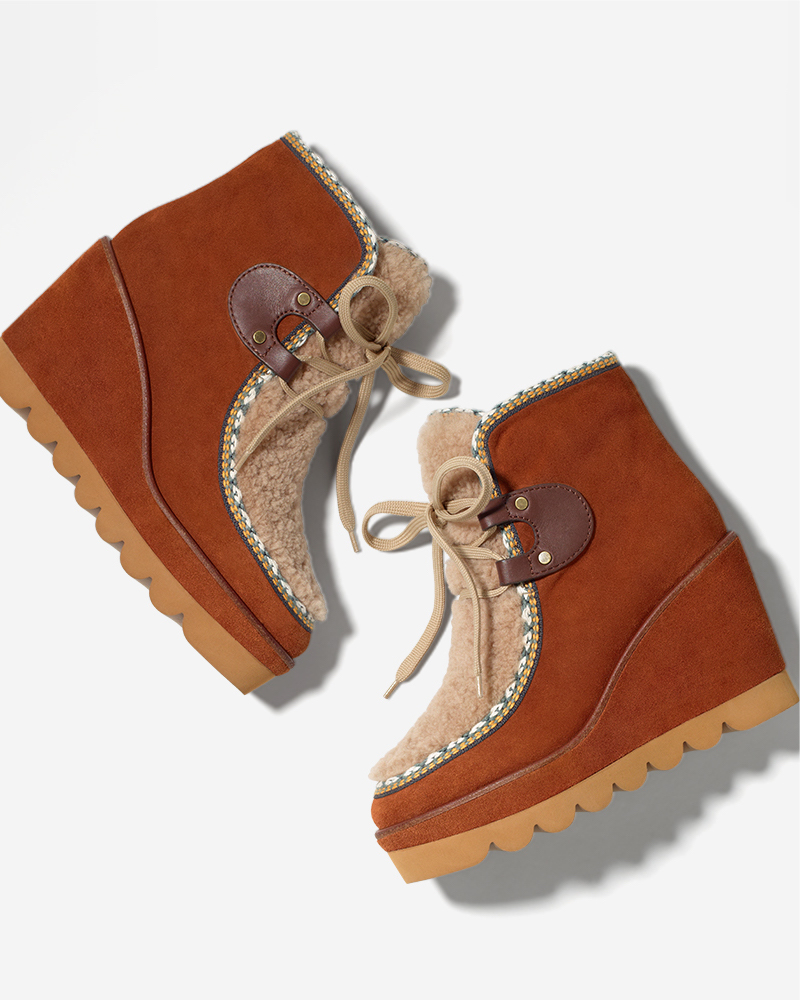 See by Chloé Klaudia Wedge Fashion Boot