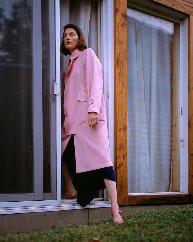 Sies Marjan Pink Pockets Trench Coat
