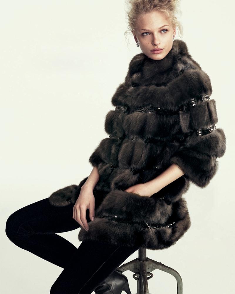 Simonetta Ravizza Sequined Sable Fur Coat