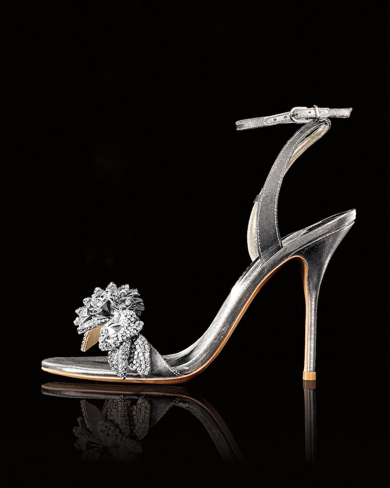 Sophia Webster Lilico Metallic Floral Ankle-Wrap Sandal