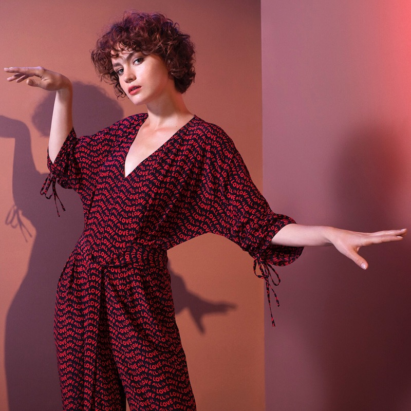 Stella McCartney All Is Love Silk Jumpsuit
