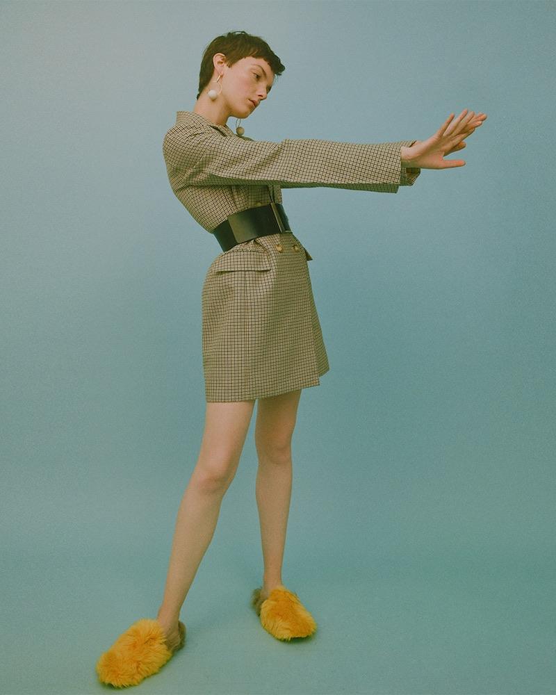 Stella McCartney Checked Wool Blazer Dress