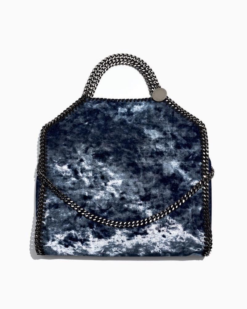 Stella McCartney Falabella Tiny Crushed Velvet Shoulder Bag