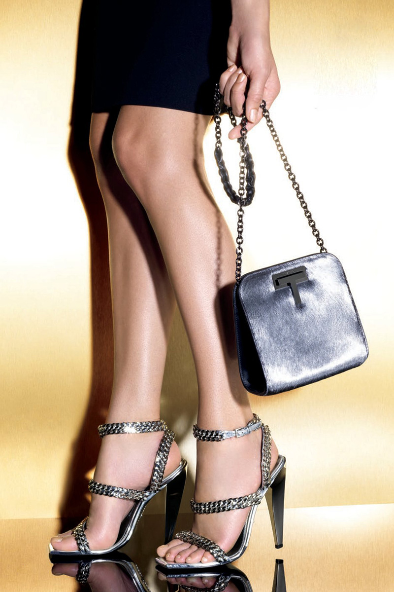 TOM FORD Metallic Calf Hair Day Bag