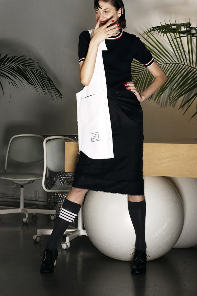 Thom Browne Black Inside-Out Sack Skirt