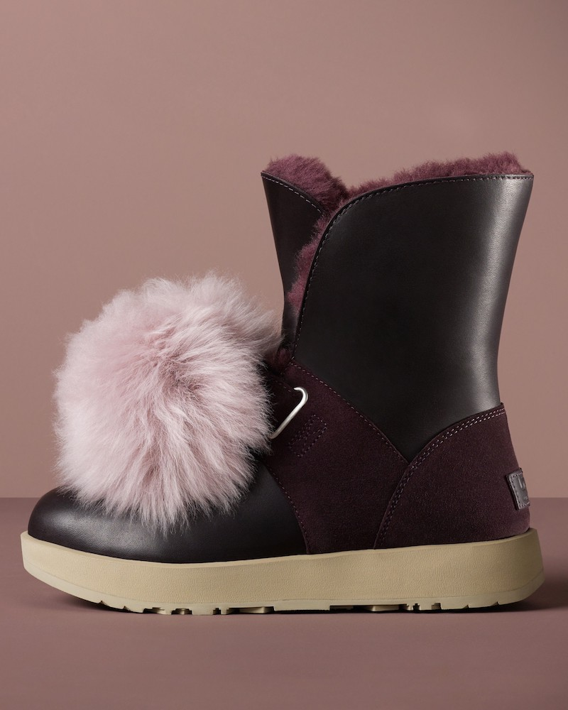 UGG Isley Genuine Shearling Pompom Waterproof Boot