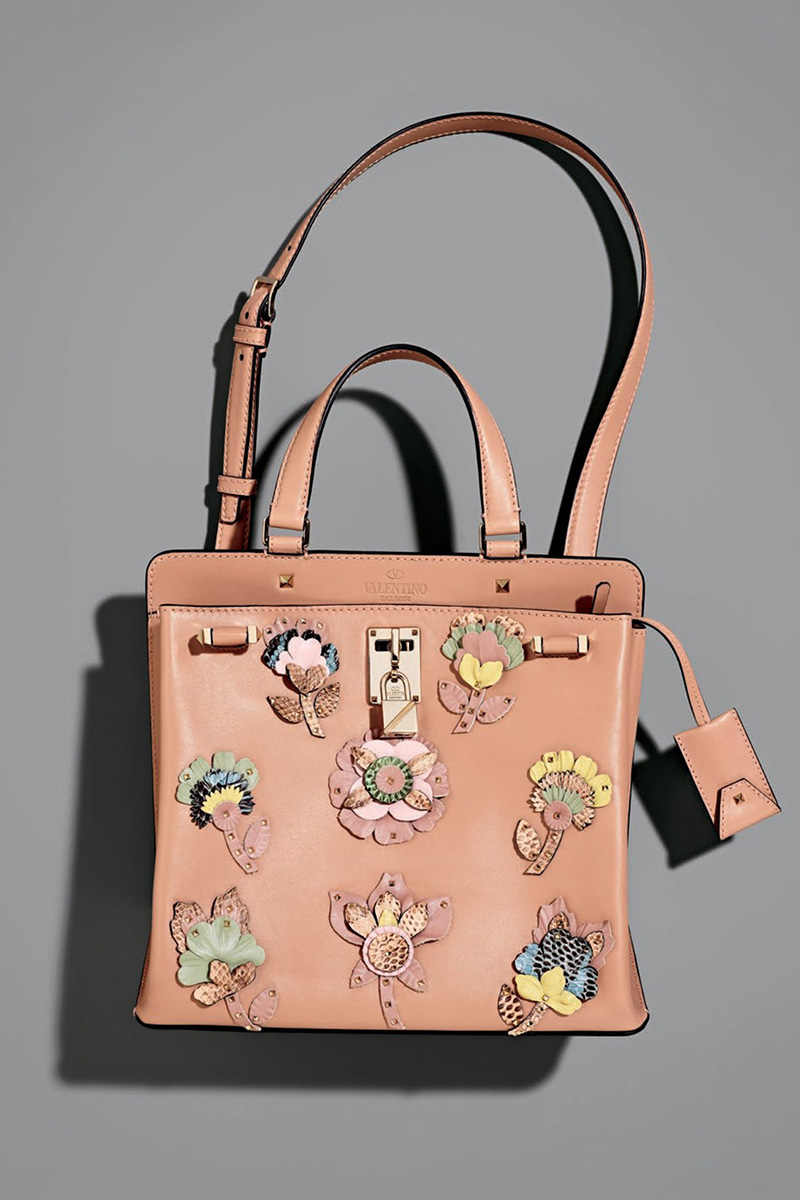 Valentino Garavani Joylock Medium Vitello Lux Satchel Bag
