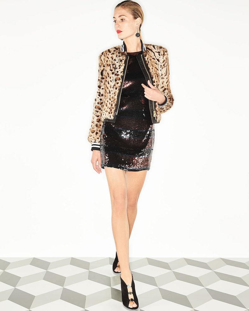Veronica Beard Breakers Jewel-Neck Sequin Mini Dress