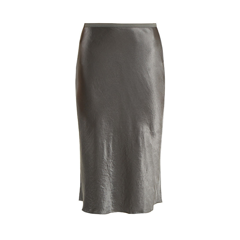 Vince Bias-Cut Satin Skirt