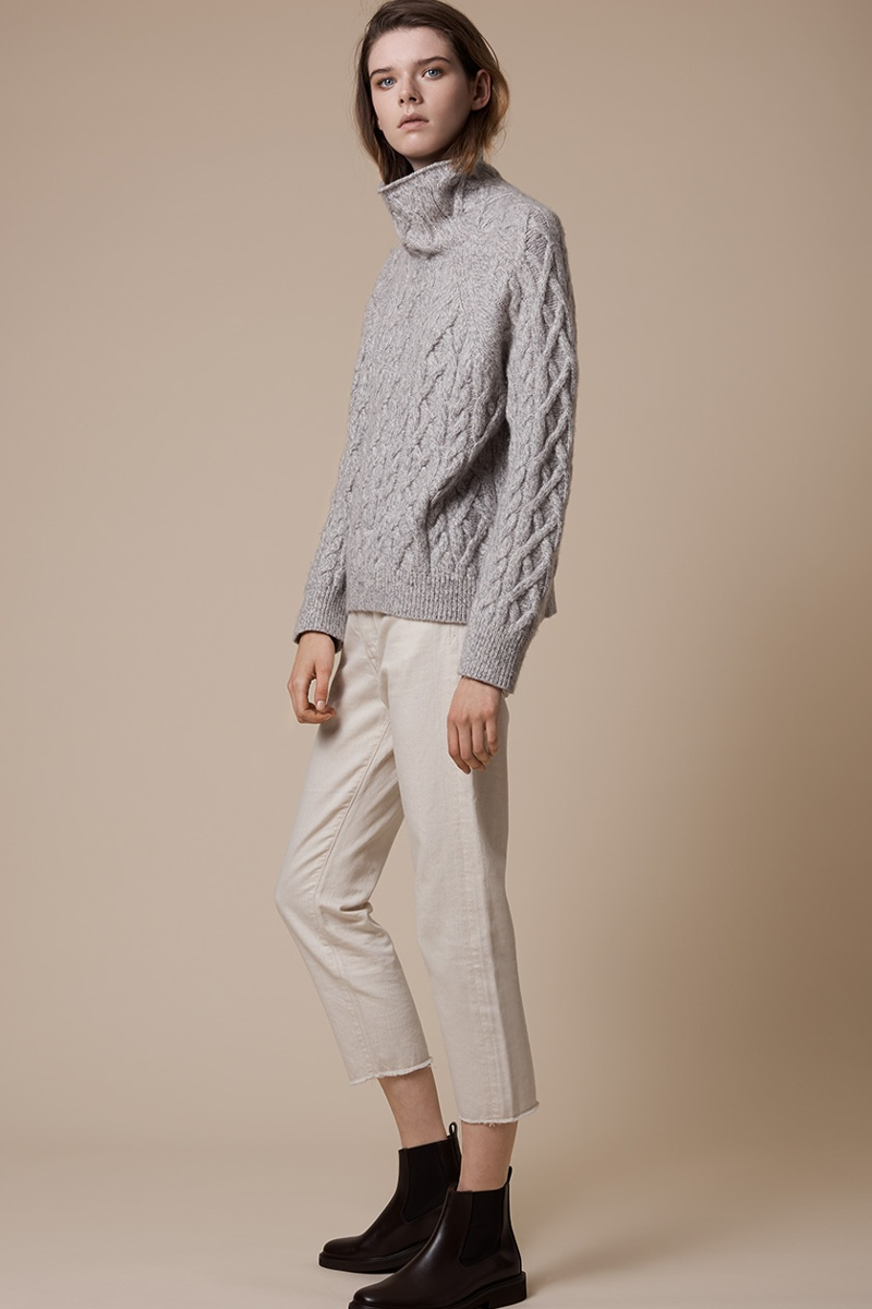 Vince Cable-Knit Wool-Blend Sweater
