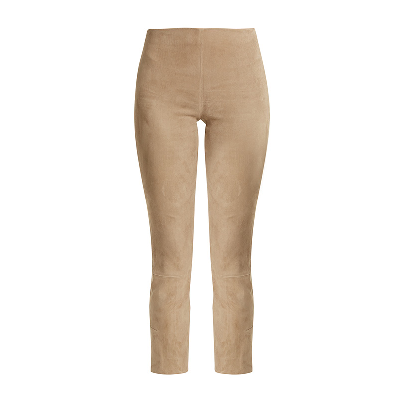 Vince Cropped Suede Trousers