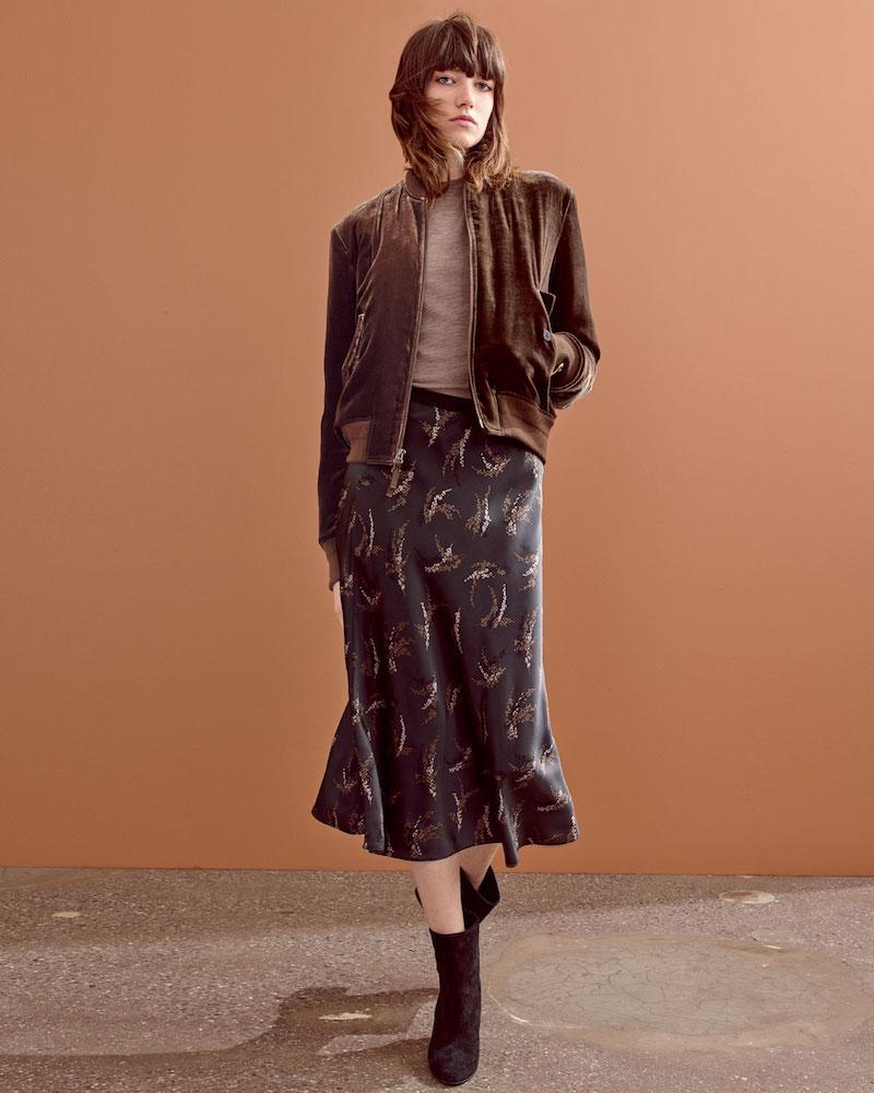 Vince Spring-Floral Midi Slip Skirt