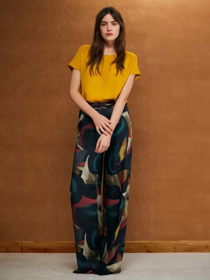 WTR London Journey Printed Wide Leg Trousers