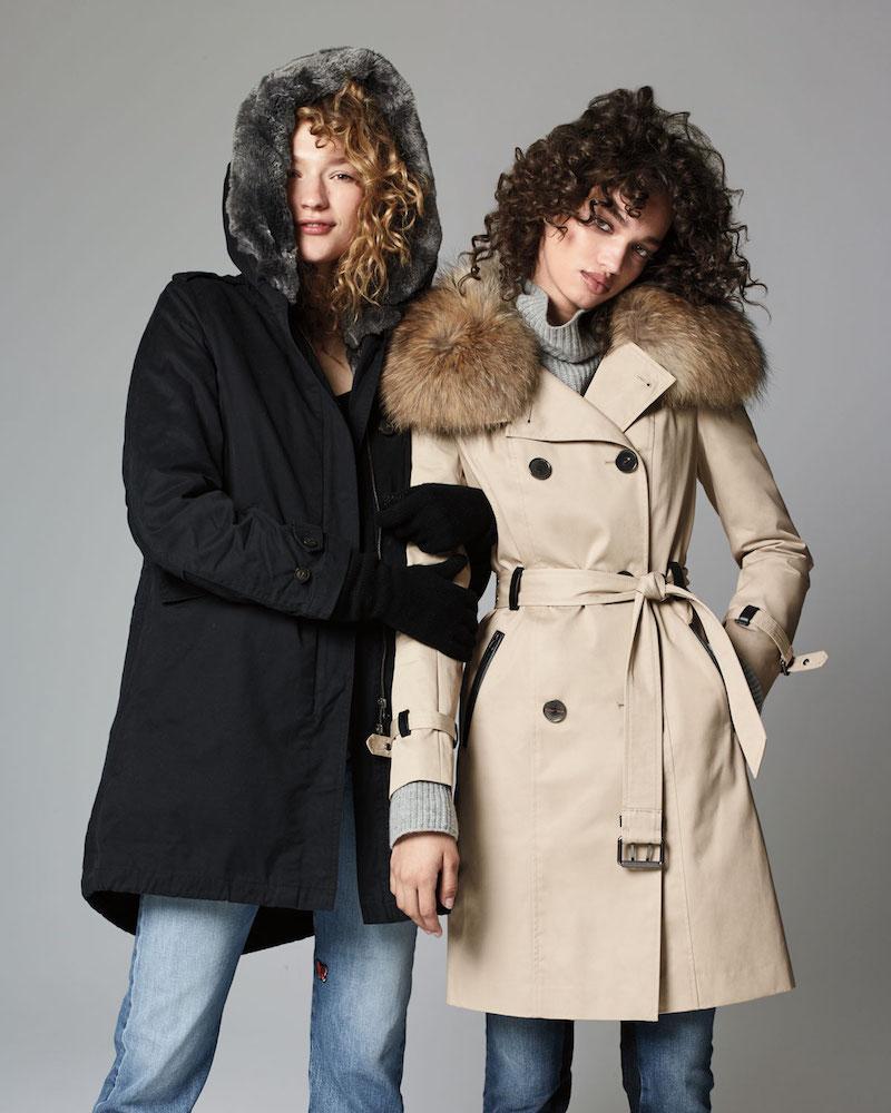 Woolrich Literary Fur-Trim Cotton Parka Coat
