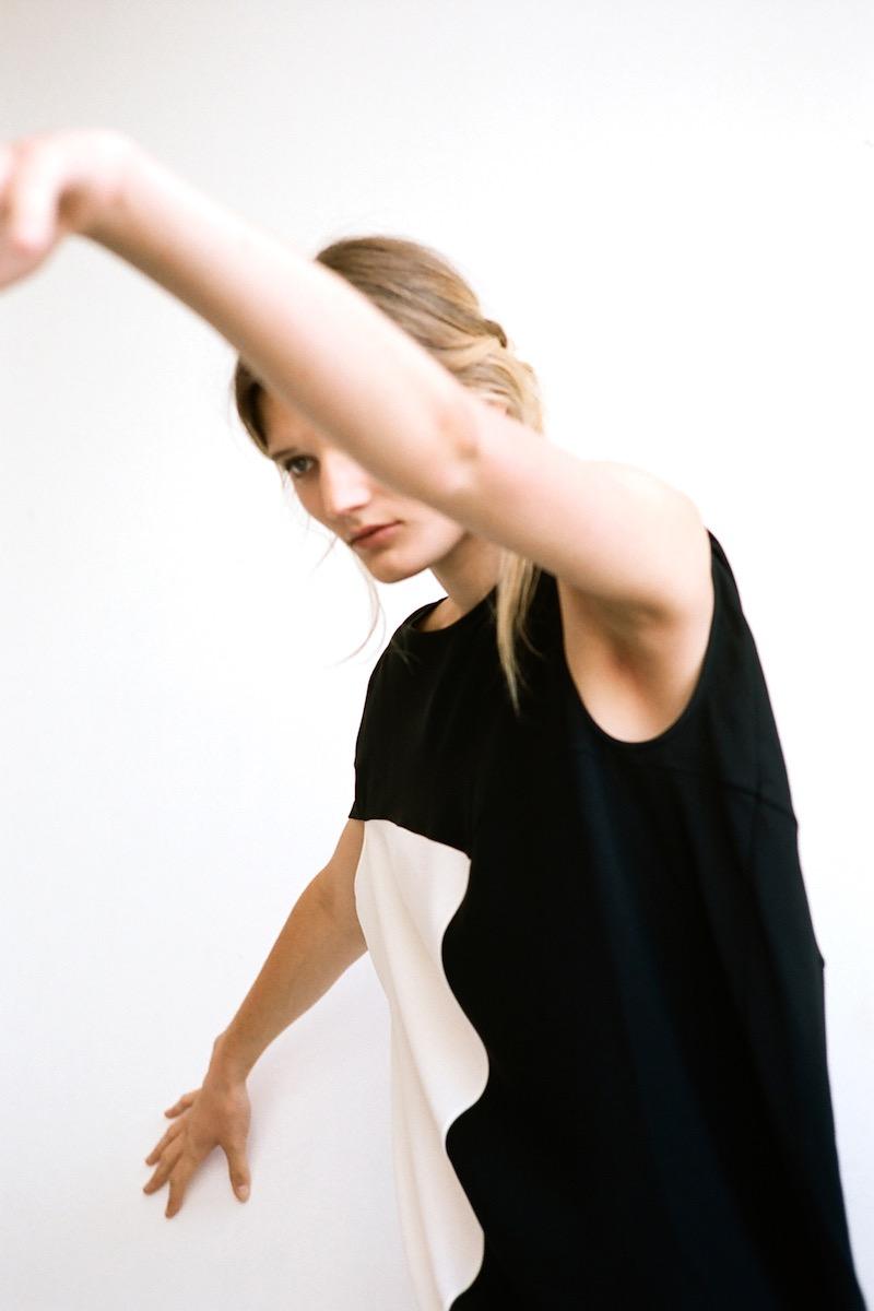 Zero + Maria Cornejo Amale Crepe Shift Dress