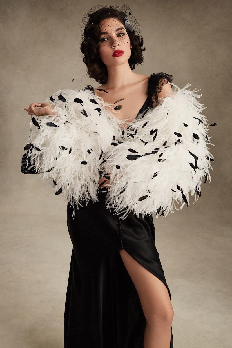 16Arlington Ostrich Feather Jacket