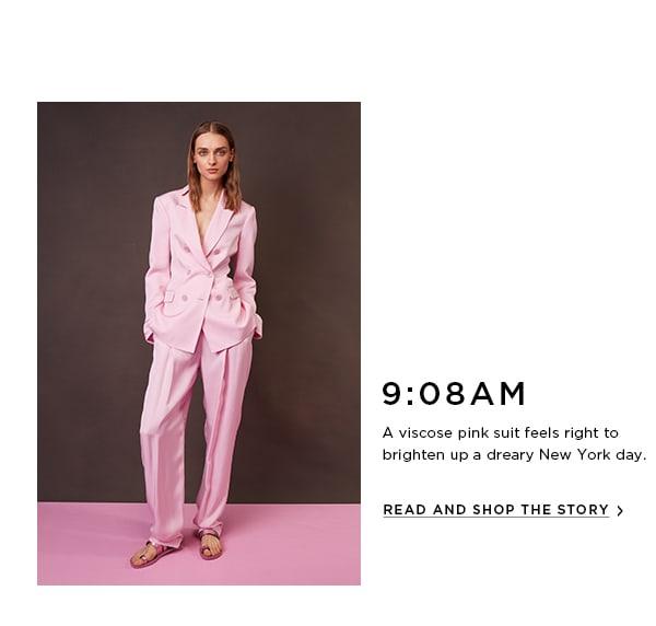 Viscose Pink Suit