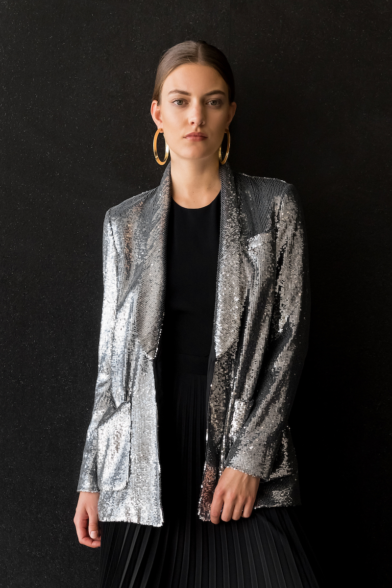 A.L.C. Sequined Open-Front Blazer