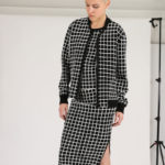 Akris punto Grid-Pattern Knit Bomber Jacket