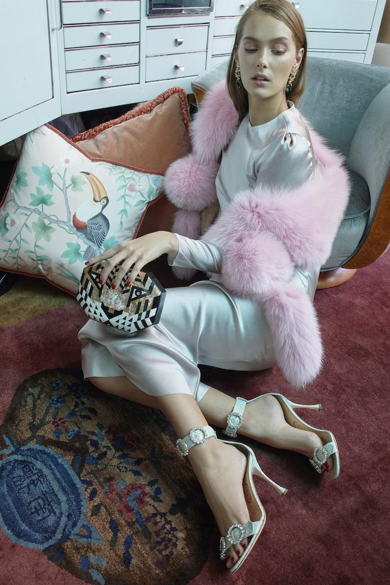 Anabela Chan Green M'O Exclusive Posie 18k Yellow Gold Multi Stone Earrings