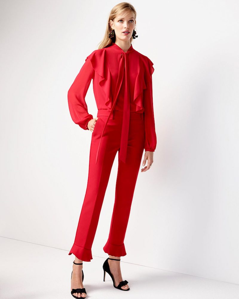 Ann Taylor The Ankle Pant With Ruffle Cuff