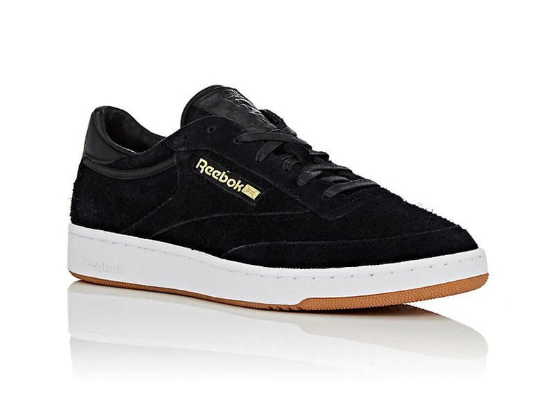 BNY Sole Series x Reebok Club C 85 Suede Sneakers in Black