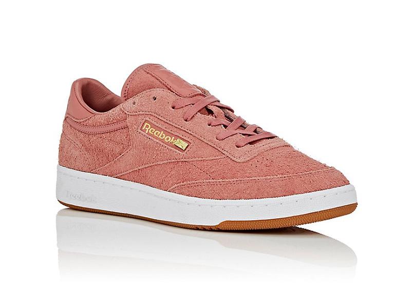 BNY Sole Series x Reebok Club C 85 Suede Sneakers in Rose