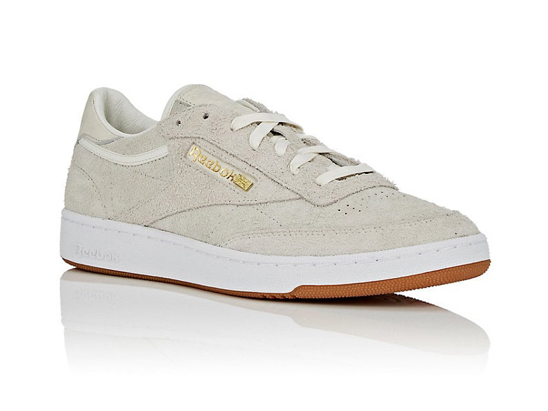 BNY Sole Series x Reebok Club C 85 Suede Sneakers in Taupe