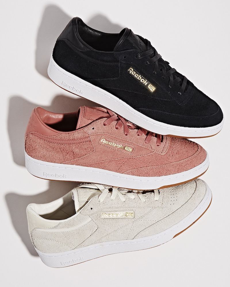 BNY Sole Series x Reebok Club C 85 Suede Sneakers