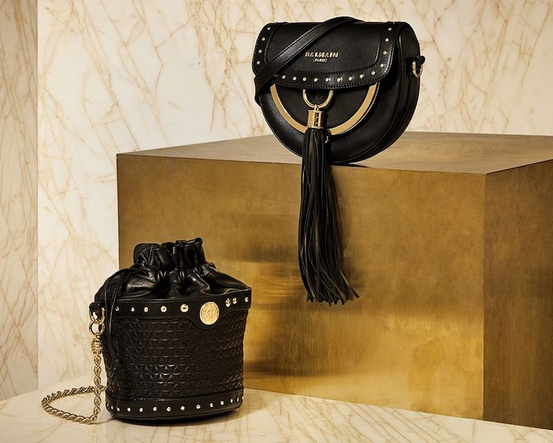 Balmain Domaine Leather Cross-Body Bag