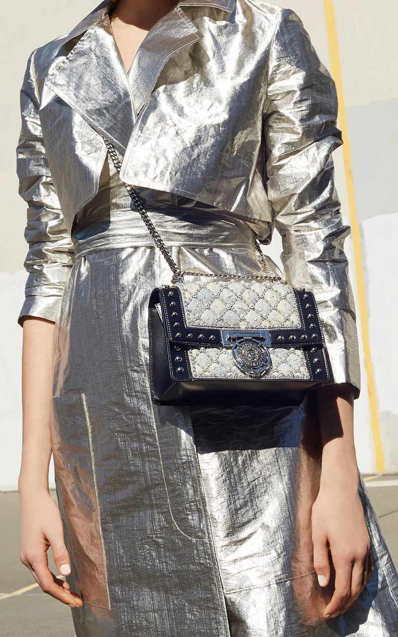 Balmain Studded Box Flap Bag